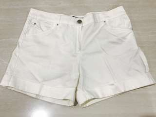 Mango white short pants