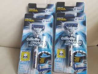 Gillette Mach 3 Turbo Shaving Razor $7 each or 4 for $25