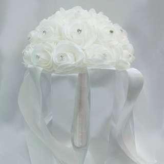 Foam flower hand bouquet