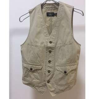 double rl parker canvas vest