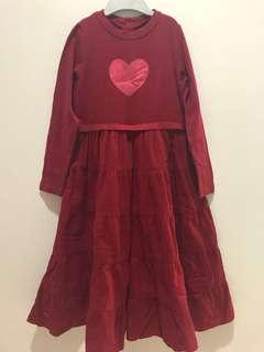 Chateau de Sable Red Long Dress