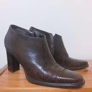 Nine West snakeskin ankle boots