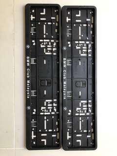 BMW plate holder