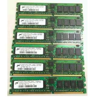 DDR 400  Server RAM 1GB x 6