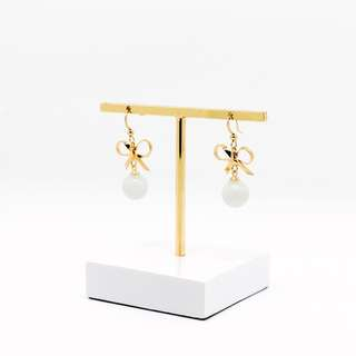 EMVINEX- Dangling style earring with glaze translucent crystal