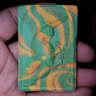 Salika benjarong 2554 Wat Weruwan (Kruba Block)(Green yellow)