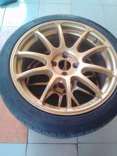 "Advan JAPAN RZ 17"" with tyre"