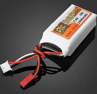 4🔥Battery 7.4v 1000MAH 2s 25c Lipo Battery JST Plug RC Car RC Helicopter Universal