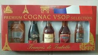 舊版迷你法國干邑酒辦5支装禮盒