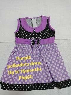 Polka dot baby dress