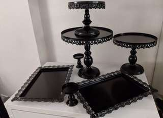 Brand New 7pc Black Cake Stand - BACK BY POPULAR DEMAND