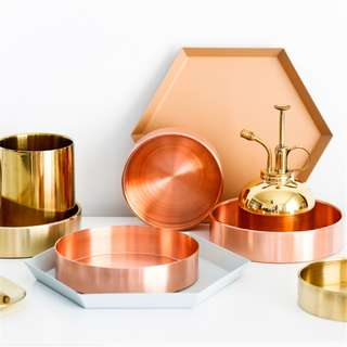 *PRE-ORDER* Gold/RoseGold Storage Dishes.Coasters.