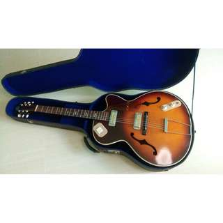 1958 Teisco EP 14 (Model 14) Vintage Japanese Bizarre Archtop Guitar w/ original case!
