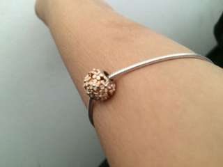Genuine Rose gold Pandora charm