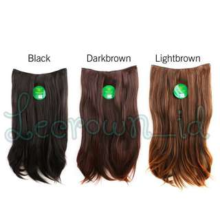 Hair clip / wig Korea warna dark brown