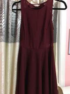 Bluenotes Maroon Dress
