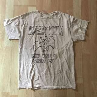 nwot brandy melville led zeppelin band tee