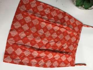 Rok Batik Orange Sepan