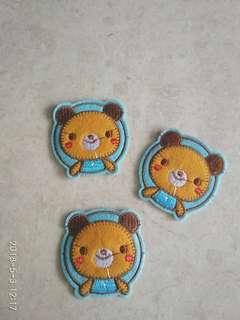 Sew on patch - Orange bear