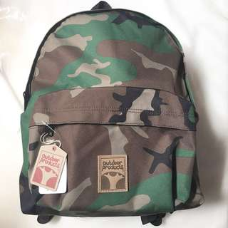 Outdoor Products Tree Logo Camo Cordura daypack, HARGA PAS, NO TAWAR2, NO RIBET