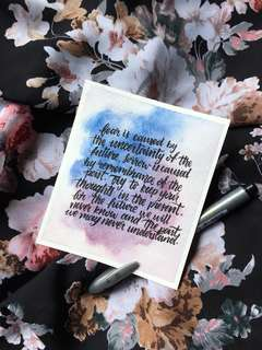 Watercolour Calligraphy Quote