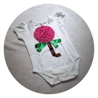 Romper bayi murah motif bunga 3D