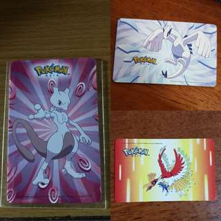 limited edition lugia , ho oh and mewtwo ezlink set