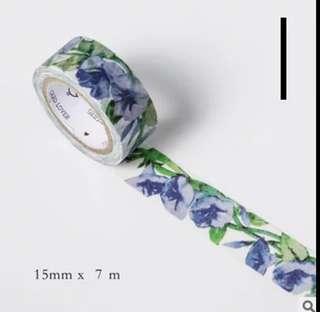 Set of 10m Spring Flower Washi Tape (1)