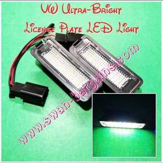 Plug n Play Volkswagen Ultra-Bright Error-free Crystal White LED Rear License Plate Lamp Replacement Light Modules Set VW Golf Polo MK4 MK5 MK6 Scirocco Passat CC Error-free 6000K