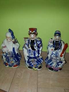 Fu Lu Shou Figurine porcelain