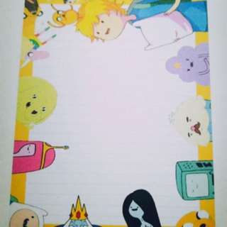 (ADVENTURE TIME) NOTEPADS FOR SALE