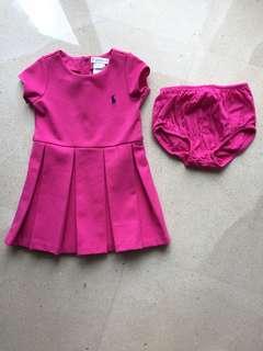 Authentic ralph lauren 9mos baby girl party dress