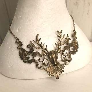 (FREE POSTAGE WM)Deer Collar Necklace