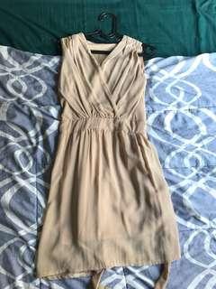 Nude midlength dress