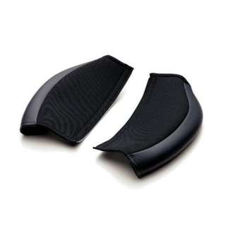 Bride Protect Pad Set for Knee for GIAS series - High-class soft leather + fabric Black