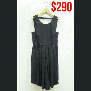 Tela Black Fit and Flare Dress (意大利製)