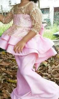 Peplum Glitter Lace Kembang Kids