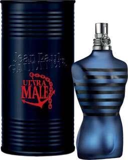 Jean Paul Gaultier Jpg Ultra Male Intense EDT For Men (AUTHENTIC)