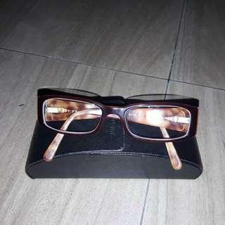 Authentic PRADA Eye glass Eye wear