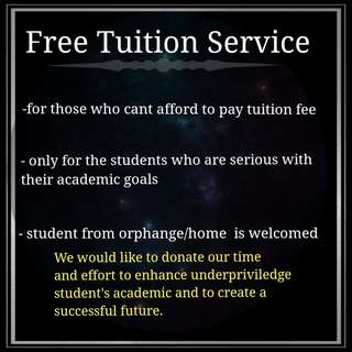 FREE Tuition Service
