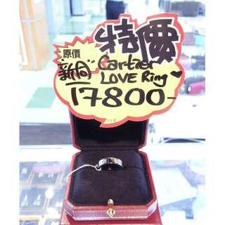 Cartier 18K White Gold with 6pcs Diamonds LOVE Ring Size 59 Diamond 卡地亞 白金 鑽石 經典款 戒指 指環