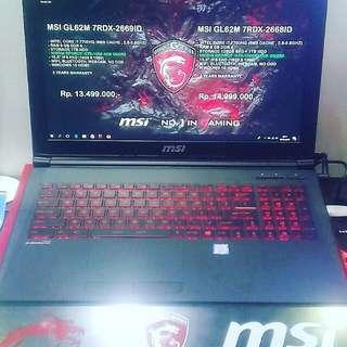 Cicilan Laptop MSI GL62M 7RDX-2669ID ,Tanpa Kartu Kredit