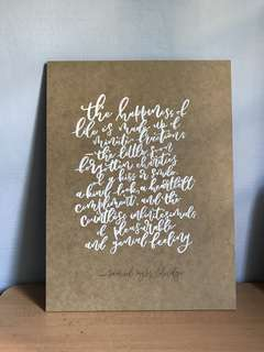 Customisable Calligraphy Wooden Board (White Paint)