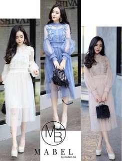 Lace dress; f@