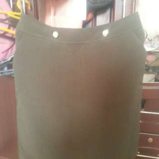 F&F ARMY GREEN SKIRT