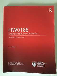 HW0188 Engineering Communication I
