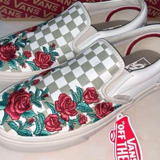Vans slip on rose embroidery (ORIGINAL)