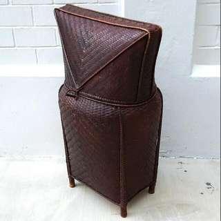 Vintage Rattan Storage Basket