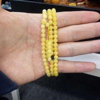 白花蜜108念珠約5mm重10g以上$680一條
