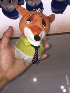 Zootopia wolf keychain/soft toy